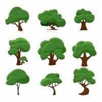 collezione di alberi disegnati a mano