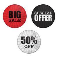 Sale button pin set