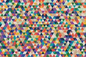 Colorful Geometric Triangle Pattern vector