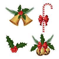 conjunto de decoración de navidad