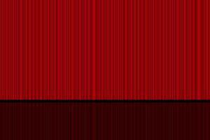 cortina roja cerrada del teatro