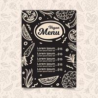 Vegan restaurant menu vector