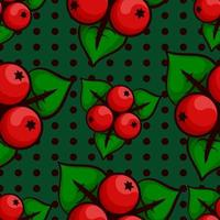Cranberries seamless pattern