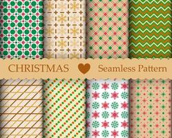 Set of seamless patterns for Christmas