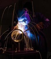 MIG welding steel pipe photo