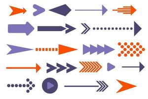 Arrows in different shapes vector