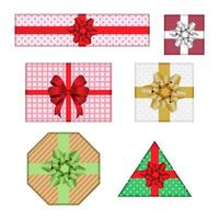 Decorative gift box set  vector