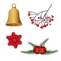 conjunto de vacaciones de decoración de navidad