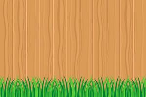 Green grass against wooden fence  text vector