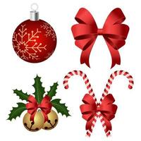 conjunto de decoración y adornos navideños