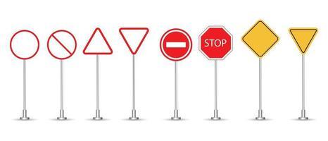 ensemble de panneaux de signalisation vecteur