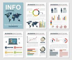 Infographic business brochure set vector