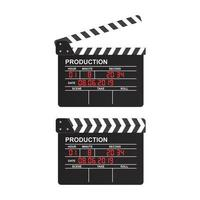 Movie Clapperboard on White vector