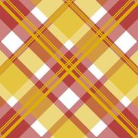padrão sem emenda de tartan vermelho, amarelo vetor
