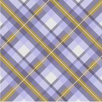padrão sem emenda xadrez amarelo, roxo vetor