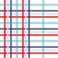vermelho, azul, branco padrão sem costura xadrez linear vetor