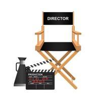filmregisseur stoel op wit vector