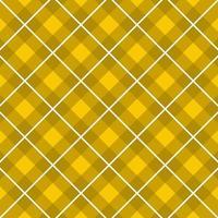 padrão de tartan amarelo, branco vetor