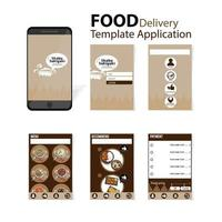 Shabu sukiyaki menu template for application vector