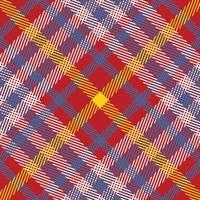 padrão sem emenda xadrez vermelho, branco, amarelo e azul vetor