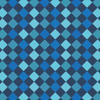 Blue Checkered Tartan Seamless Pattern