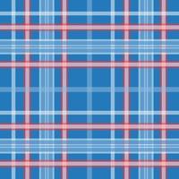sem costura padrão xadrez azul e vermelho vetor