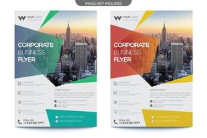 Transparent Gradient Overlay Business Flyer vector