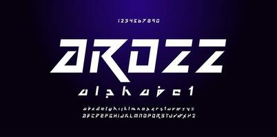 schuin futuristisch lettertype
