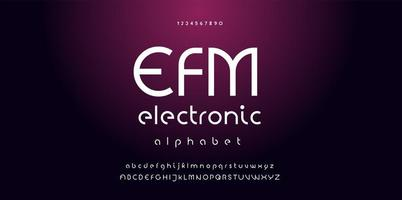 Electronic digital music font vector