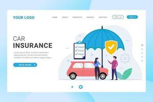 landing page assicurazione auto con protezione ombrello
