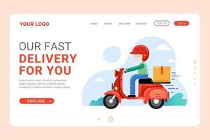 Fast delivery service landing page