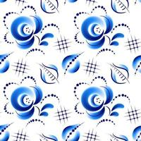 Floral folk blue pattern