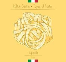 pâtes tagliatelles cuisine italienne vecteur