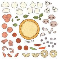 Pizza crust and toppings
