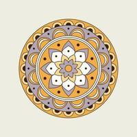 Retro Color Floral Mandala vector