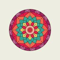 Bright Colorful Floral Circular Mandala vector