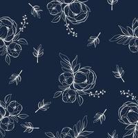 línea floral arte de patrones sin fisuras vector
