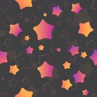 patrón de estrella vibrante