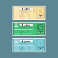 Flat Bank Check  vector