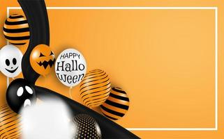 Happy Halloween Horizontal Background  vector
