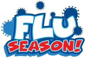 Flu season font design vector