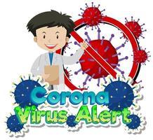 Doctor y alerta de células de virus con el médico vector