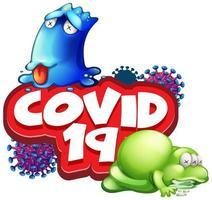 coronavirus con monstruos enfermos vector