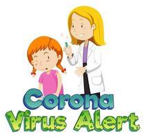Girl getting vaccine vector