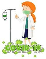 diseño para tema coronavirus vector