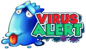 alerta de virus de monstruo enfermo