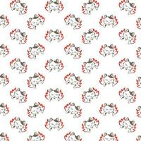 Cartoon Angry Cats Pattern