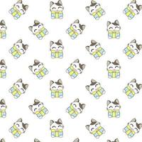 Cartoon Cats Holding Gifts vector