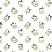 gatos dos desenhos animados, segurando presentes