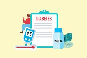 Diabetes Patient Concept with Tiny Character
